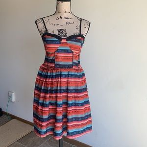 Band of Gypsies fit and flare dress